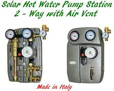 Solar Hot Water Pump Station 2-Way Air Vent Close Loop Indirect Glycol System