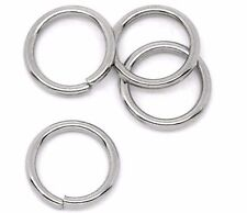 50 PCs 8mm STAINLESS STEEL Heavy Thick Open Jump Rings 18 gauge wire jum0047a
