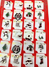 wholesale Lot of 12 pcs pretty Vintage Brooches/pin for Christmas color Silver.