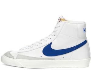 NIKE BLAZER MID '77 VINTAGE Trainers - UK Size 8 (EUR 42.5) White / Racer Blue