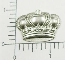 53034 2 Pc Matte Silver Oxidized Victorian Crown Jewelry Finding