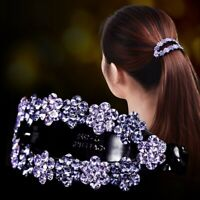 Ladies Girls Crystal Banana Clip Ponytail Hairpin Women Hair Claw Accessories