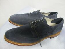 Banana Republic men's suede wingtip oxfords dress shoes navy blue size 10.5M