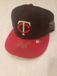 SWEET Francisco Liriano Auto'd GAME WORN Hat, Minnesota Twins, MLB AUTHENTICATED