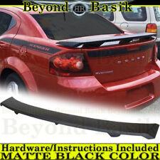 2008-2014 Dodge Avenger MATTE BLACK Factory Style Spoiler Wing UNPAINTED