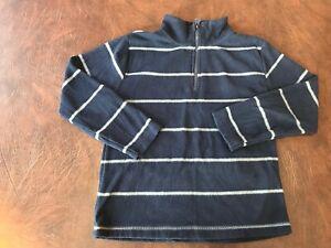 Boy's Size 6 FADED GLORY Fleece Shirt Long Sleeve 1/4 Zip  Blue  Perfect!