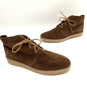 Wolverine 1000 mile made in usa men brown chukka suede boots size 12 D