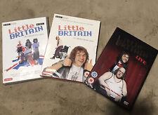 Little Britain - Series 1&2 (DVD, 2005, 2-Disc Set) Plus Little Britain Live Dvd