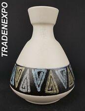 Vintage 60'-70s U-KERAMIK (UBELACKER) Vase 128 West German Pottery Fat Lava Era