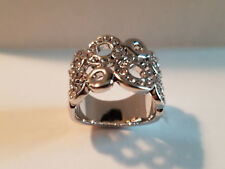 Roxi Silver Plated Fashion Jewelry Ring Size 7 **NEW**