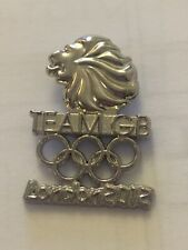 RARE London 2012 Olympic Team GB Silver Coloured Athletes Pin Badge