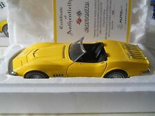 AUTOart 1969 Corvette Daytona Yellow Limited Edition of 6000 COA  1:18 Diecast