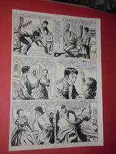 """SERGIO TARQUINIO-tavola originale pagina-8 episodio 6""""ray fox asso cow boys""""1953"""