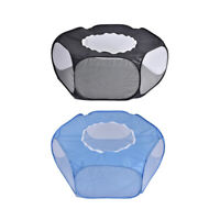 Small Animal Playpen Foldable Pet Cage with Top Cover Anti Escape BreathablO4C3