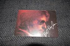 BOB DYLAN signed Autogramm auf 10x15 cm Autogrammkarte InPerson SELTEN!!!