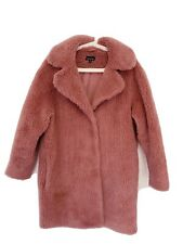 Iconic Topshop Pink Fluffy Teddy Coat (SIZE 8)