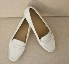 NIB Talbots Women's Loafer 7W BECCA Penny-Keeper Driving Moccasins Ivory $109
