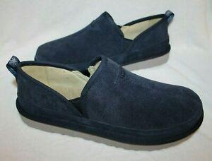NIB UGG Men's Romeo Corduroy Slipper Loafers Dark Sapphire Blue 11 12 14