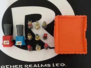 1987 Spinjas Tomy Parker Brothers LOT of 9 w/ 1 Working Spinner, 1 Spinner Shell