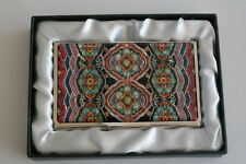 Business Card Case Stainless Unique Tile Pattern Mother of Pearl Card Holder