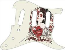 Stratocaster Strat Pickguard Fender SSS 11 Hole Guitar Pick Guard Wounded Heart