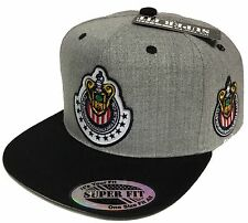 LAS CHIVAS RALLADAS DE GUADALAJARA MEXICO HAT 2 LOGOS HEATHER GRAY BLACK
