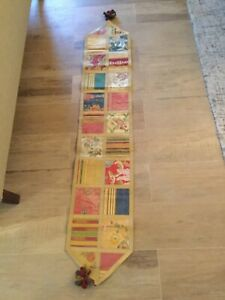 "Embroidery table runner 70"" length multicoloured"