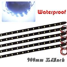 "90CM/35"" Flexible LED Strip Light Bar Car Motorcycle Truck Boat Waterproof 12V"