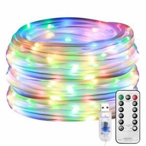 LE LED Rope Lights Outdoor Multi Colored Indoor String Lights with Remote 8 M...