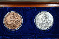 1982 Dominican Republic Salvador Jorge Blanco-Cristobal Colon Medal Set- w/ Box