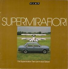 Fiat 131 Supermirafiori 1600 TC Saloon 1978-79 UK Market Sales Brochure