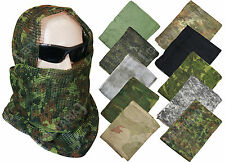 Camouflage Net Scarf - Colour Option - Hunting Army Camo Scrim Net Head Wrap
