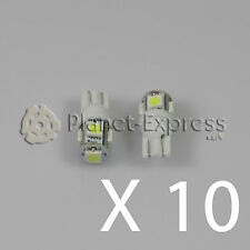 10 x Light bulbs 5 LED SMD T10 W5W Car Position, inside. Straw White Xenon