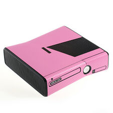 Textured Pink Carbon Fibre Effect  XBOX 360 Slim decal skin sticker cover wrap