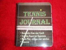 tennis journal keep coaching tips records memories