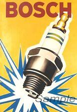 Vintage bosch bougie publicité A2 Poster Print