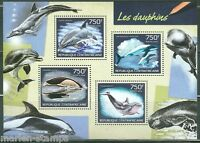 CENTRAL AFRICA 2014 DOLPHINS SHEET MINT NH