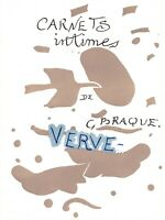 George Braque Title Page Print from Verve 1955 Teriade Mourlot