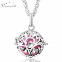 """Tree Cage Harmony Ball Belly Pendant Sterling Silver Plated Women Necklace 30"""""""