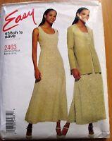 McCALL'S SEWING PATTERN  NO.2463 LADIES DRESS & JACKET SIZE 18-14 UNCUT