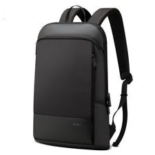 Laptop Backpack Slim 15.6 Inch Office Work Unisex Black Ultralight Business Bags