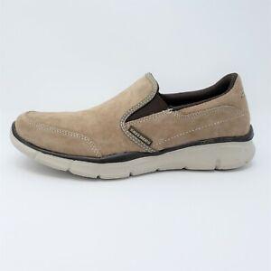Skechers Equalizer Mind Game Mens Suede Tan Slip On Loafers Shoes Size 7.5 51502
