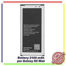 BATTERIA PER SAMSUNG EB-BG800 GALAXY S5 Mini G800F 2100mAh CAPACITA' ORIGINALE