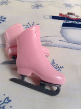 Pair Barbie's 90s Vintage Light Pink Winter Ice Skate Boots