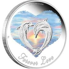 2013 50c Forever Love Dolphins 1/2oz Silver Proof Coin PERTH MINT
