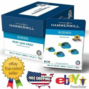 "Hammermill Business Printer Paper Copy Paper 8 1/2"" x 11"" 5000 Sheets Case White"