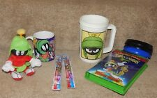 Lot Marvin The Martian Coffee Cup Mug Plush Backback Key Chain Vhs Toothbrushes