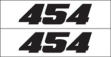 MG 2335 454 HP GM fit Chevy Engine Decal Sticker  Big Block Metro Auto Graphics