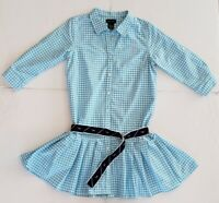 NWT POLO RALPH LAUREN GIRLS OXFORD 3/4 SLEEVE WITH BELT DRESS  SIZE 14/16 #101