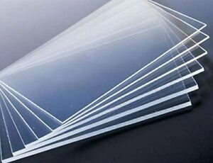 "Acrylic, Plexiglass, Polycarbonate Panel 24"" x 48"" x 1/8"" thick, Clear Plastic"